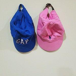 Bundle! Pink & blue baseball hats!